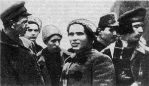 Makhno Nestor with his officers