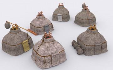 3D модель Скифской юрты